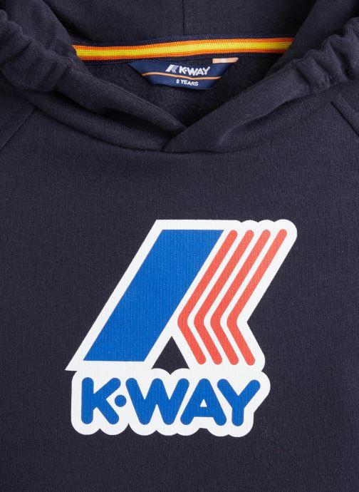 Vêtements K-Way  Loki Magro Logo Bleu vue portées chaussures