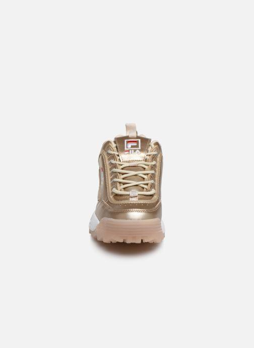 Baskets FILA Disruptor M Low Wmn Or et bronze vue portées chaussures