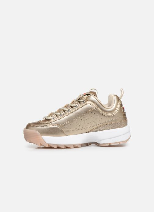 Baskets FILA Disruptor M Low Wmn Or et bronze vue face