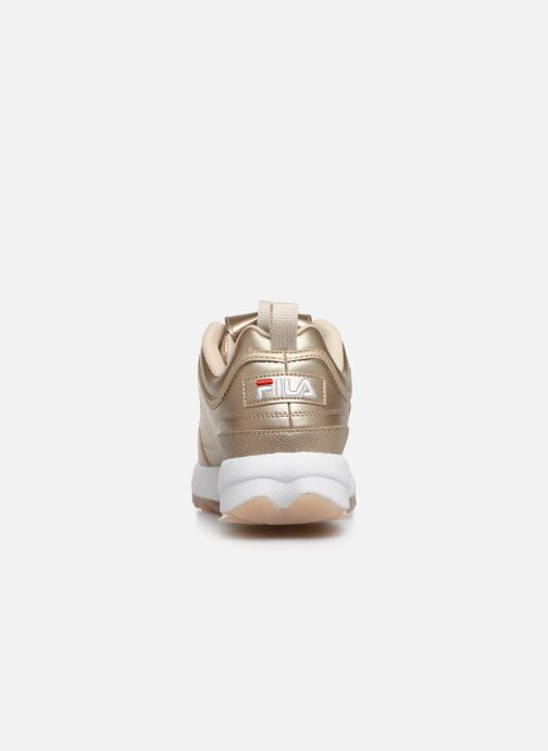 Baskets FILA Disruptor M Low Wmn Or et bronze vue droite
