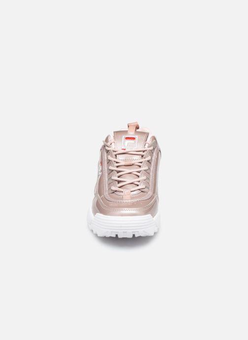 Baskets FILA Disruptor M Low Wmn Rose vue portées chaussures