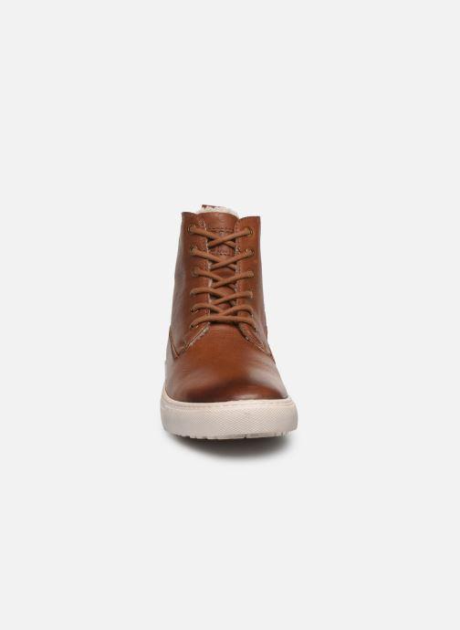 Sneakers I Love Shoes THALIN LEATHER Marrone modello indossato