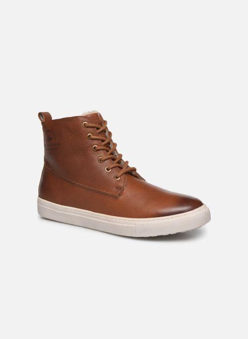 Baskets I Love Shoes THALIN LEATHER Marron vue détail/paire