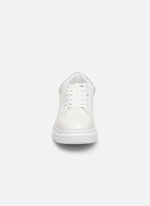 Baskets I Love Shoes THIQUEEN Blanc vue portées chaussures