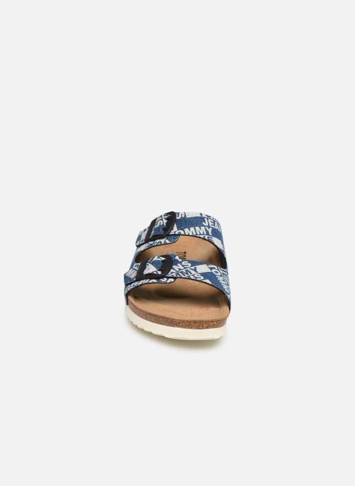 Mules et sabots Tommy Hilfiger Allover Denim Bleu vue portées chaussures