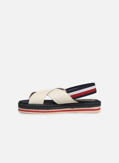 Sandales et nu-pieds Tommy Hilfiger Colorful Rope Flat S Blanc vue face