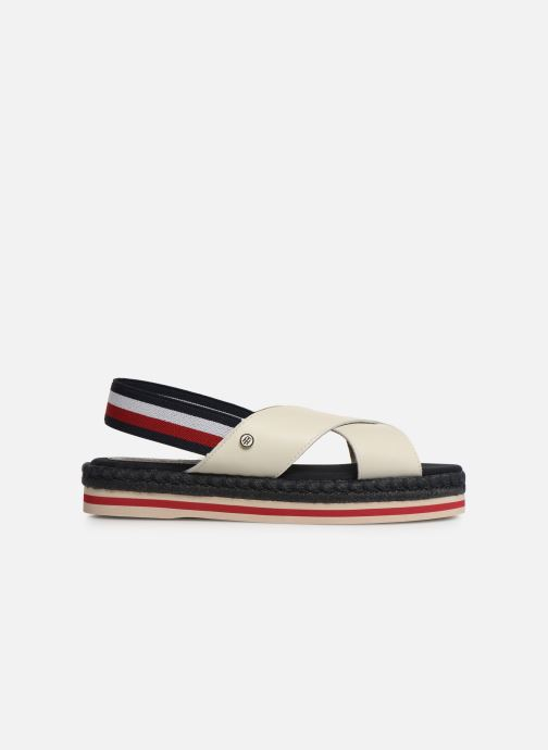 Sandalias Tommy Hilfiger Colorful Rope Flat S Blanco vistra trasera
