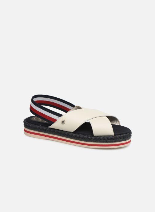 Sandales et nu-pieds Tommy Hilfiger Colorful Rope Flat S Blanc vue détail/paire