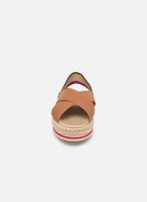 Sandales et nu-pieds Tommy Hilfiger Colorful Rope Flat S Marron vue portées chaussures