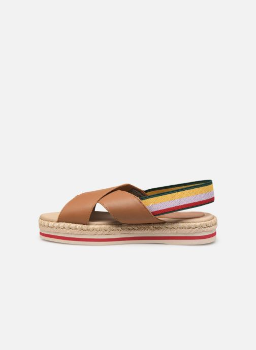 Sandales et nu-pieds Tommy Hilfiger Colorful Rope Flat S Marron vue face