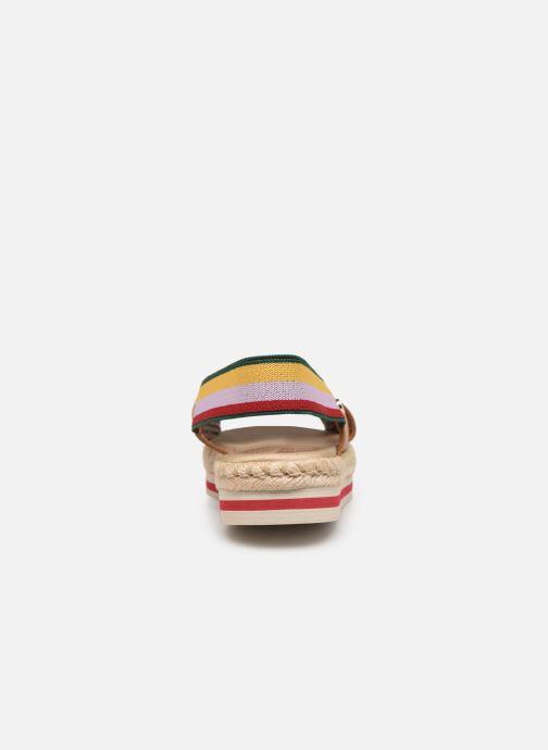 Sandales et nu-pieds Tommy Hilfiger Colorful Rope Flat S Marron vue droite