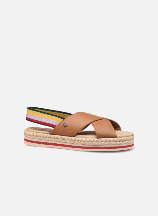 Sandales et nu-pieds Tommy Hilfiger Colorful Rope Flat S Marron vue derrière
