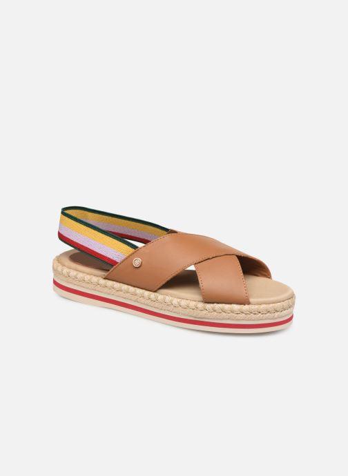 Sandales et nu-pieds Tommy Hilfiger Colorful Rope Flat S Marron vue détail/paire