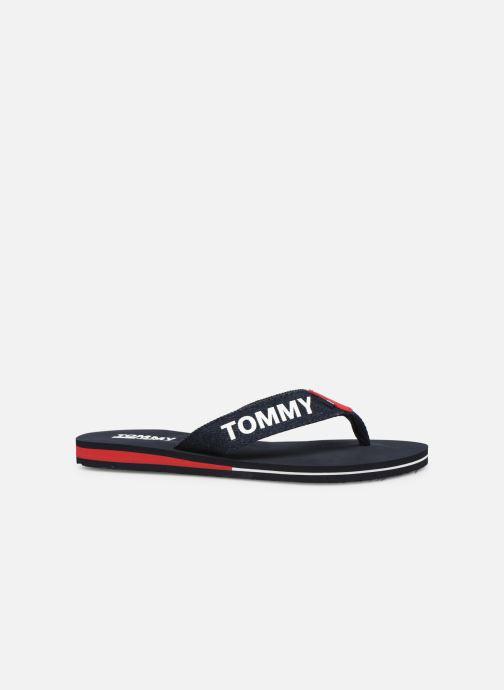 Tongs Tommy Hilfiger Denim Beach Sandal Bleu vue derrière