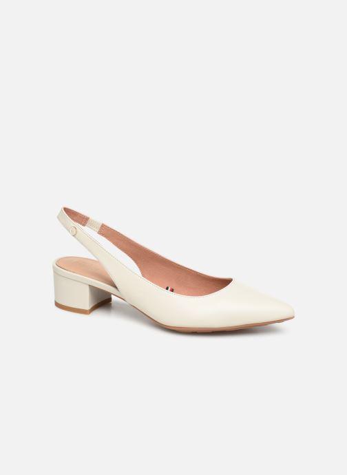 Høje hæle Tommy Hilfiger Dressy Leather Mid H Hvid detaljeret billede af skoene