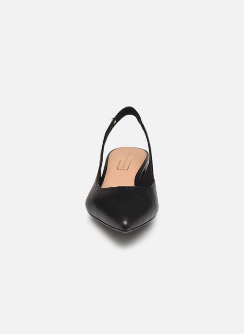 Høje hæle Tommy Hilfiger Dressy Leather Mid H Sort se skoene på