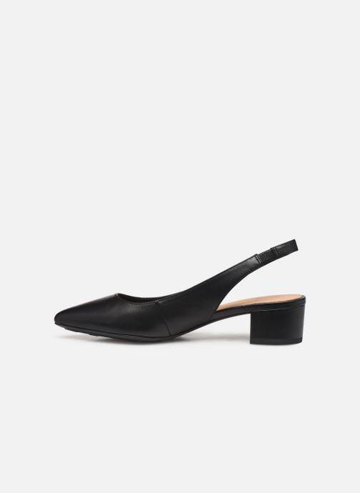 Zapatos de tacón Tommy Hilfiger Dressy Leather Mid H Negro vista de frente