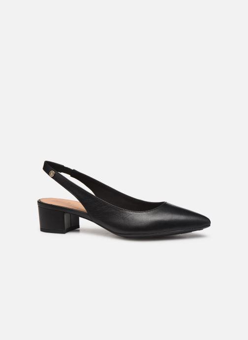 Zapatos de tacón Tommy Hilfiger Dressy Leather Mid H Negro vistra trasera