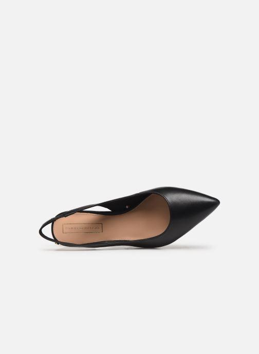 Zapatos de tacón Tommy Hilfiger Dressy Leather Mid H Negro vista lateral izquierda