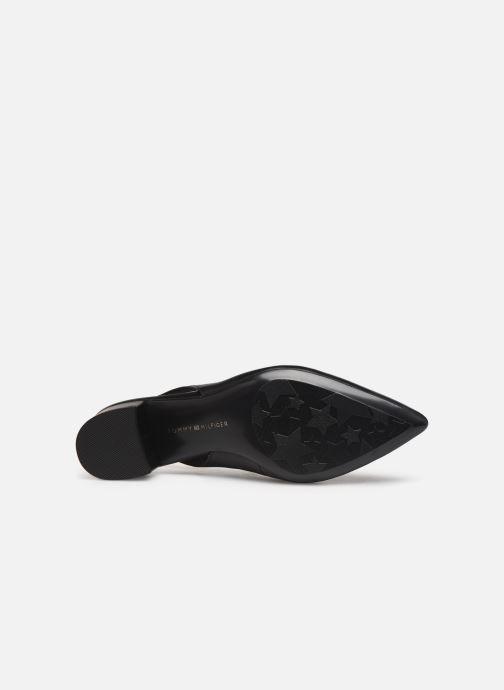 Zapatos de tacón Tommy Hilfiger Dressy Leather Mid H Negro vista de arriba