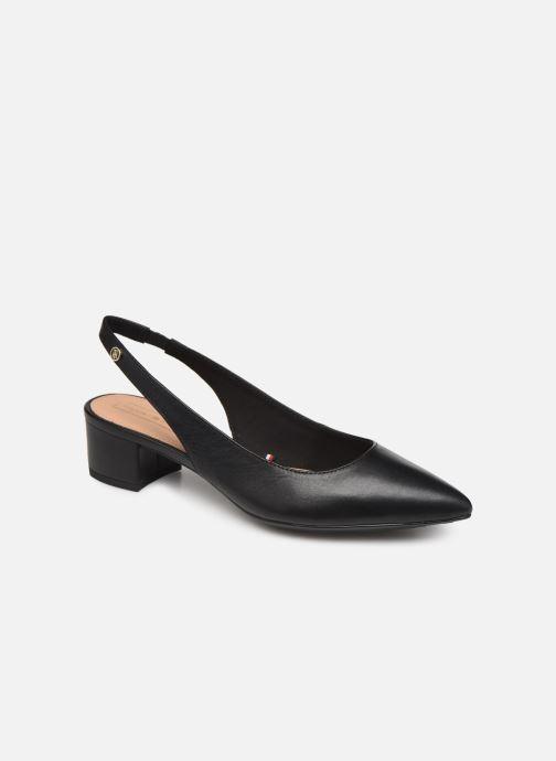 Høje hæle Tommy Hilfiger Dressy Leather Mid H Sort detaljeret billede af skoene