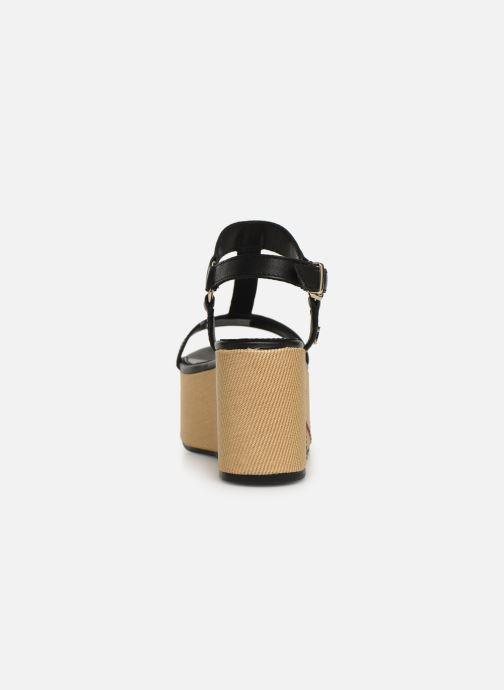 Sandales et nu-pieds Tommy Hilfiger Elevated Leather Fla Noir vue droite