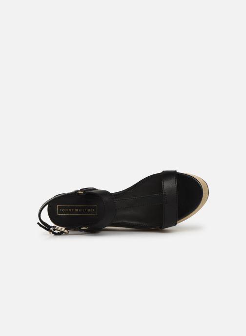 Sandales et nu-pieds Tommy Hilfiger Elevated Leather Fla Noir vue gauche