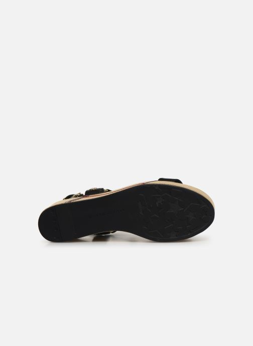 Sandales et nu-pieds Tommy Hilfiger Elevated Leather Fla Noir vue haut