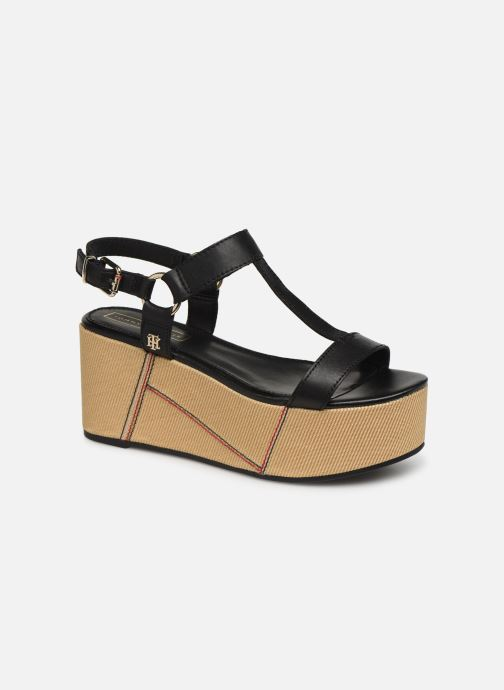 Sandaler Tommy Hilfiger Elevated Leather Fla Sort detaljeret billede af skoene