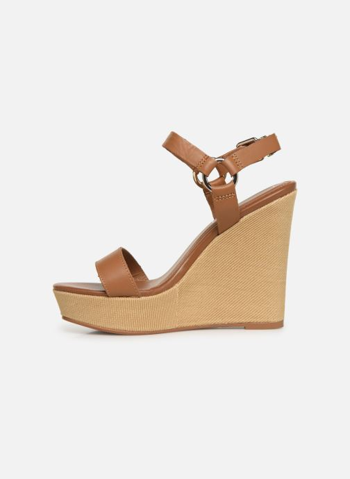 Sandalias Tommy Hilfiger Elevated Leather Wed Marrón vista de frente