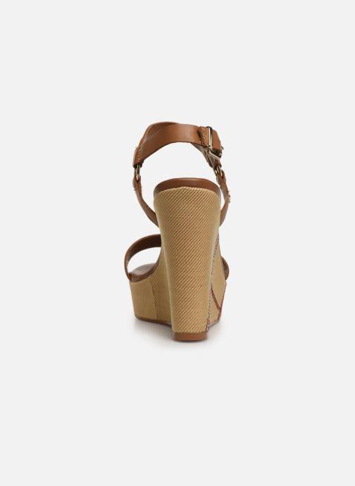 Sandales et nu-pieds Tommy Hilfiger Elevated Leather Wed Marron vue droite