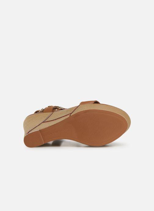 Sandales et nu-pieds Tommy Hilfiger Elevated Leather Wed Marron vue haut