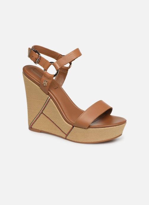 Sandalias Tommy Hilfiger Elevated Leather Wed Marrón vista de detalle / par