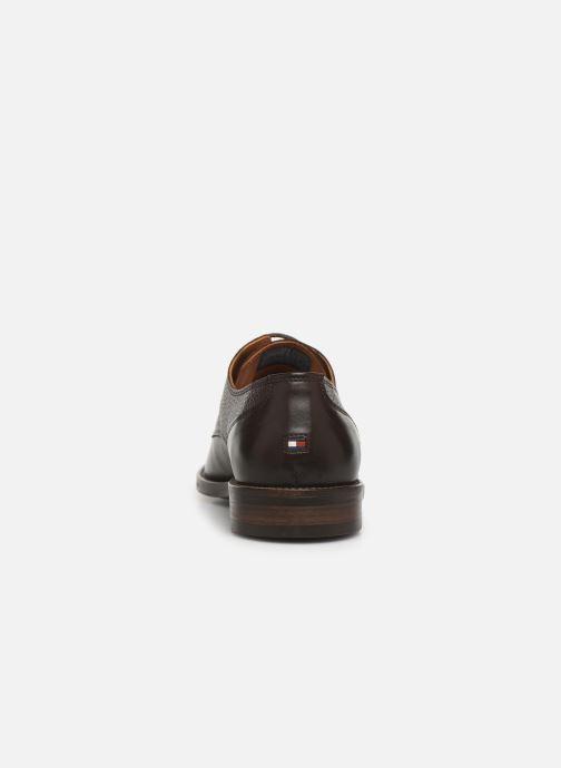 Chaussures à lacets Tommy Hilfiger Essential Lea Marron vue droite