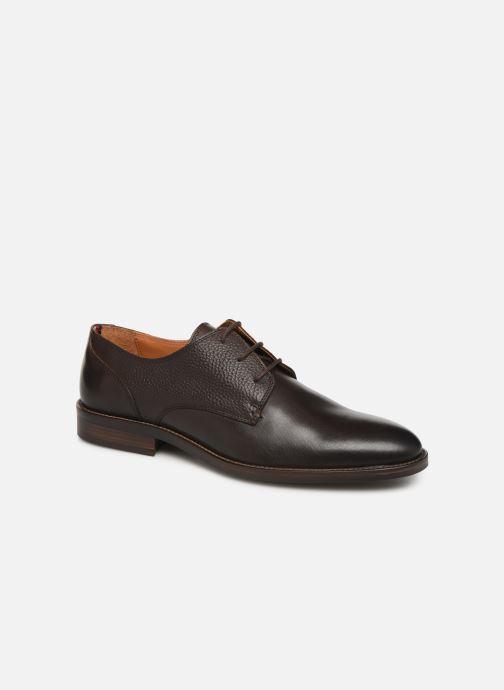 Chaussures à lacets Tommy Hilfiger Essential Lea Marron vue détail/paire