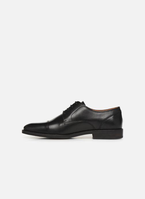 Zapatos con cordones Tommy Hilfiger Essential Leather To Negro vista de frente