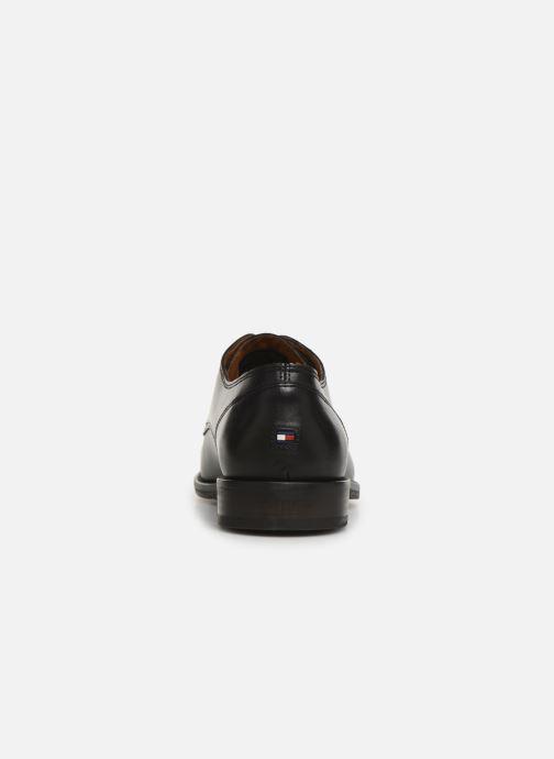 Zapatos con cordones Tommy Hilfiger Essential Leather To Negro vista lateral derecha