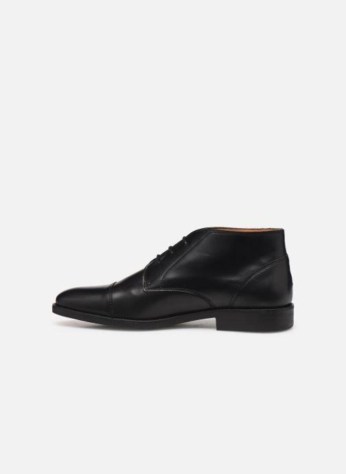 Ankelstøvler Tommy Hilfiger Essential Leather To 2 Sort se forfra
