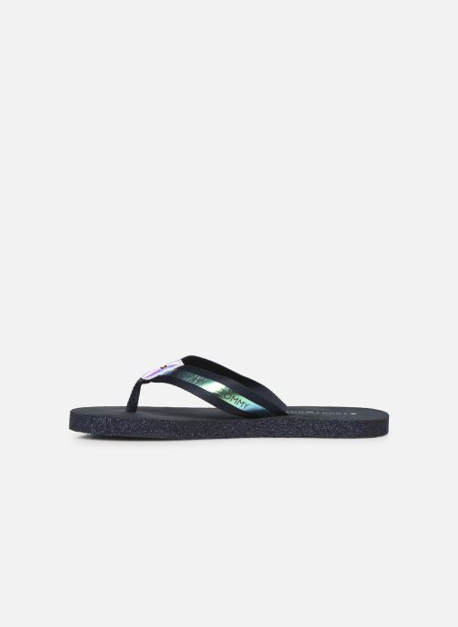 Tongs Tommy Hilfiger Flat Beach Sandal Ir Bleu vue face