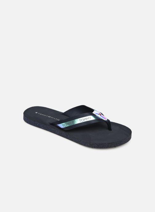 Flip flops & klipklapper Tommy Hilfiger Flat Beach Sandal Ir Blå detaljeret billede af skoene