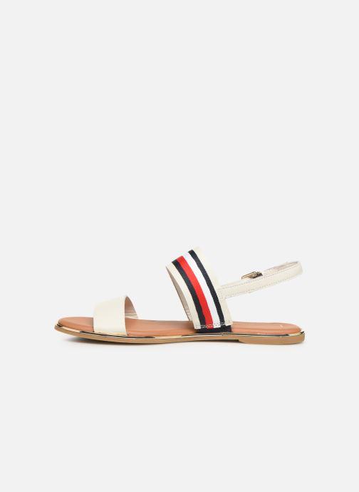 Sandaler Tommy Hilfiger Flat Sandal C Hvid se forfra
