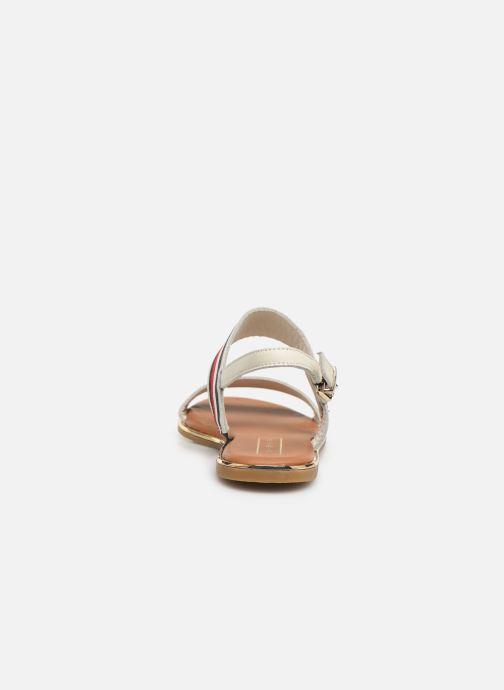 Sandaler Tommy Hilfiger Flat Sandal C Hvid Se fra højre