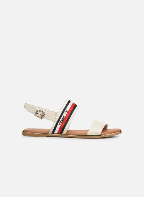 Sandaler Tommy Hilfiger Flat Sandal C Hvid se bagfra