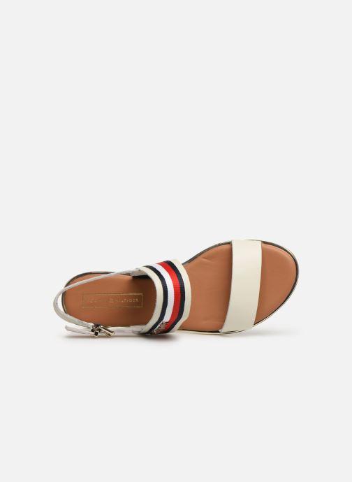 Sandales et nu-pieds Tommy Hilfiger Flat Sandal C Blanc vue gauche