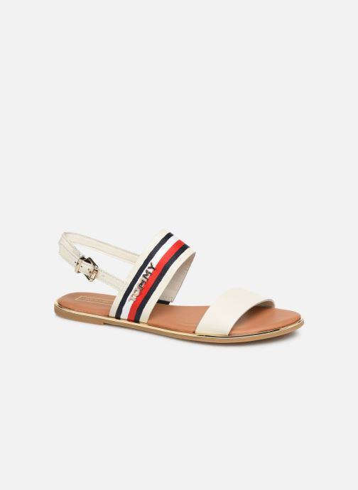 Sandales et nu-pieds Tommy Hilfiger Flat Sandal C Blanc vue détail/paire