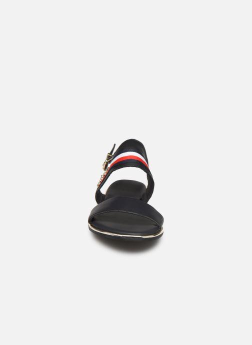 Sandales et nu-pieds Tommy Hilfiger Flat Sandal C Bleu vue portées chaussures