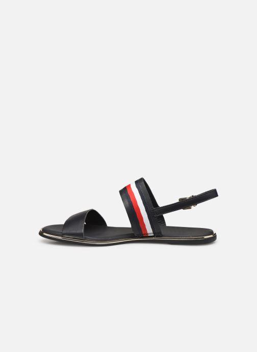 Sandales et nu-pieds Tommy Hilfiger Flat Sandal C Bleu vue face