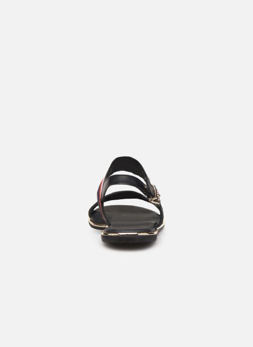 Sandaler Tommy Hilfiger Flat Sandal C Blå Se fra højre
