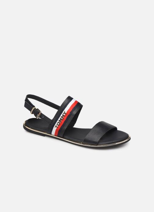 Sandaler Tommy Hilfiger Flat Sandal C Blå detaljeret billede af skoene