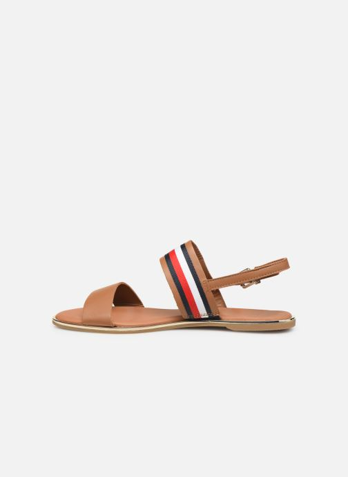 Sandales et nu-pieds Tommy Hilfiger Flat Sandal C Marron vue face